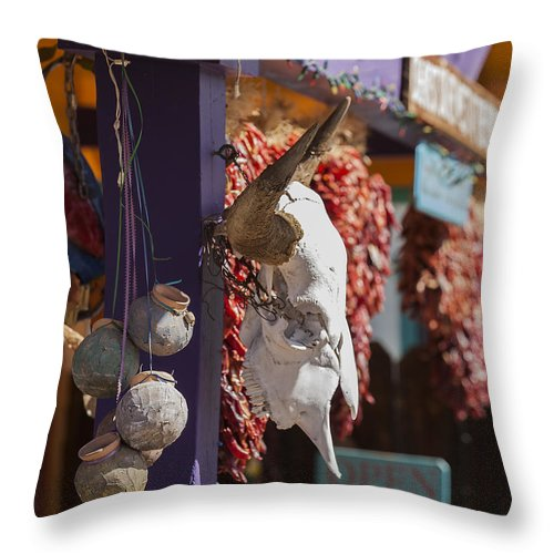 New Mexico Throw Pillow featuring the photograph Ghost Town Treasures by Amber Kresge