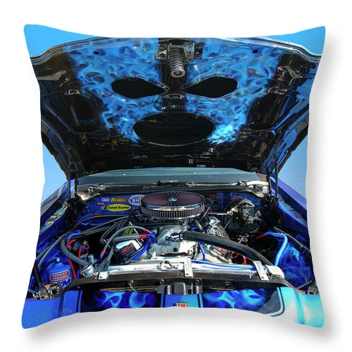 1973 Throw Pillow featuring the photograph Ghost Under The Hood by Paul Cannon