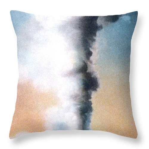 Giant Geyser Throw Pillow featuring the photograph Giant Geyser Yellowstone Np by NPS Photo Frank J Haynes