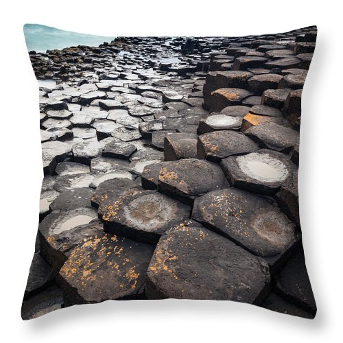 Europe Throw Pillow featuring the photograph Giant's Causeway Hexagons by Inge Johnsson
