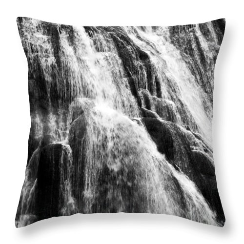 Gibbon Falls Throw Pillow featuring the photograph Gibbon Falls by Bill Gallagher
