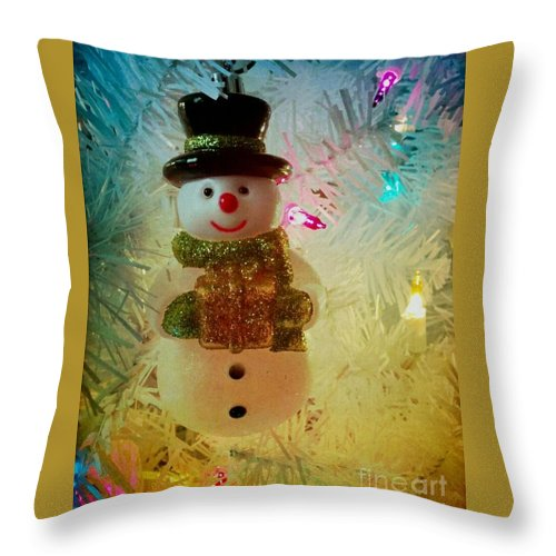 Christmas Throw Pillow featuring the photograph Gift by Katie Neese
