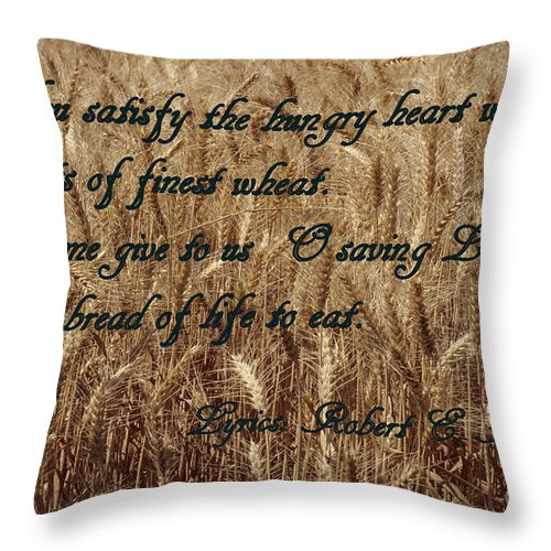Wheat Throw Pillow featuring the photograph Gift Of Finest Wheat by Sharon Elliott
