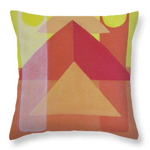 Giza Throw Pillow featuring the painting Giza by Michael TMAD Finney AKA MTEE