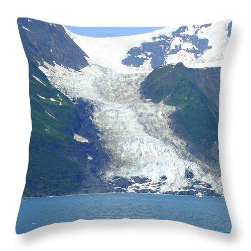 Alaska Throw Pillow featuring the photograph Glacial Spillover by Lew Davis