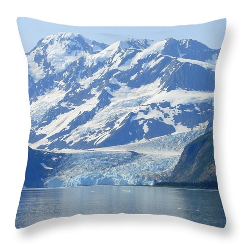 Alaska Throw Pillow featuring the photograph Glacier 11 by Lew Davis