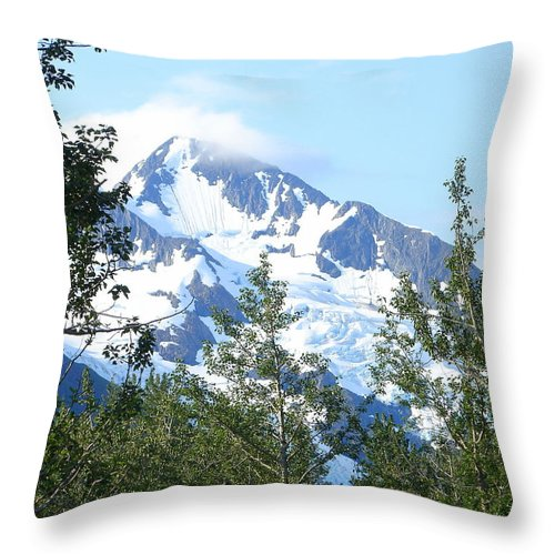 Alaska Throw Pillow featuring the photograph Glacier 5 by Lew Davis
