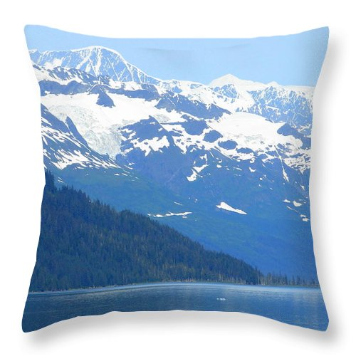 Alaska Throw Pillow featuring the photograph Glacier 8 by Lew Davis