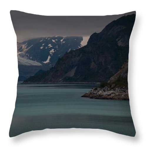 Glacier Bay Throw Pillow featuring the photograph Glacier Bay by Dayne Reast