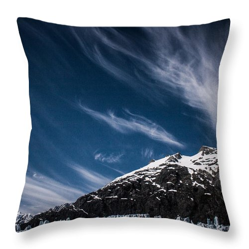Margerie Throw Pillow featuring the photograph Glacier Sky by Dayne Reast