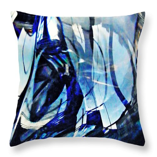Abstract Throw Pillow featuring the photograph Glass Abstract 140 by Sarah Loft
