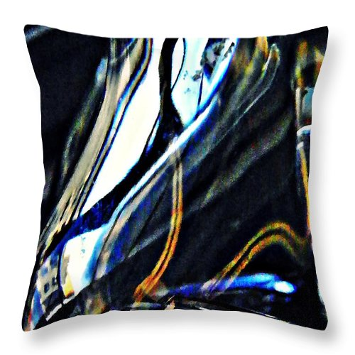 Glass Abstract 150 Throw Pillow featuring the Glass Abstract 150 by Sarah Loft