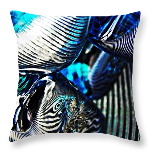 Abstract Throw Pillow featuring the photograph Glass Abstract 157 by Sarah Loft