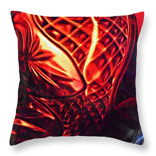 Abstract Throw Pillow featuring the photograph Glass Abstract 218 by Sarah Loft