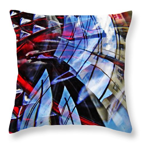Abstract Throw Pillow featuring the photograph Glass Abstract 220 by Sarah Loft