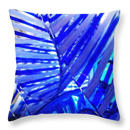 Abstract Throw Pillow featuring the photograph Glass Abstract 223 by Sarah Loft