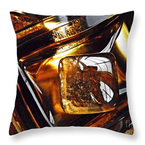 Abstract Throw Pillow featuring the photograph Glass Abstract 318 by Sarah Loft