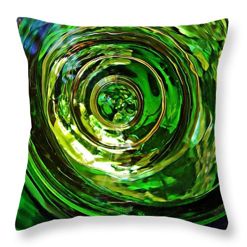 Abstract Throw Pillow featuring the photograph Glass Abstract 575 by Sarah Loft