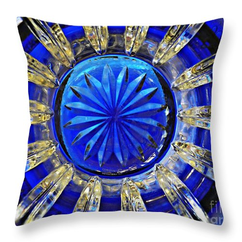 Abstract Throw Pillow featuring the photograph Glass Abstract 590 by Sarah Loft