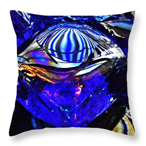 Glass Abstract 95 Throw Pillow featuring the photograph Glass Abstract 95 by Sarah Loft