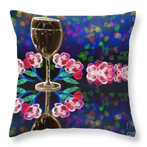 Decoration Throw Pillow featuring the painting Glass by Artist Nandika Dutt