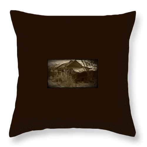 Ghosttown Throw Pillow featuring the photograph Gleason Ghost Town by Jennifer Lavigne