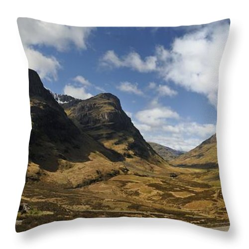Three Sisters Of Glen Coe Throw Pillow featuring the photograph Glencoe by Alasdairjames