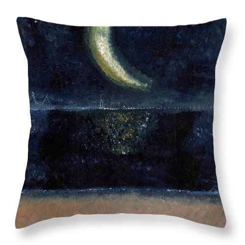 Glimpse Of New York Throw Pillow featuring the painting Glimpse Of New York by Jessica Rosen