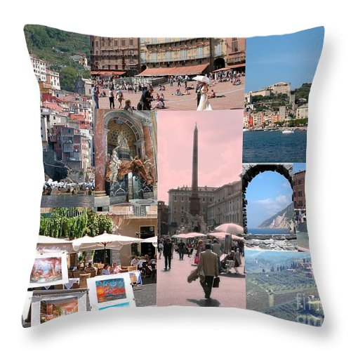 Italy Throw Pillow featuring the photograph Glimpses Of Italy by Barbie Corbett-Newmin