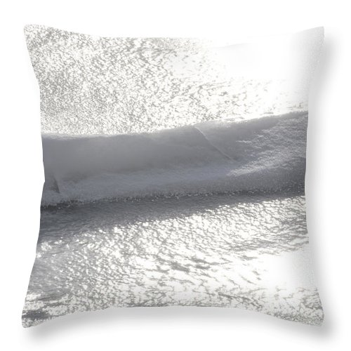 Natural World Throw Pillow featuring the photograph Glistening Levels by Urbanmoon Photography