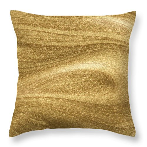 Curve Throw Pillow featuring the photograph Glittering Gold Paint by Miragec