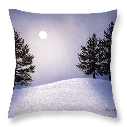 Mountains Throw Pillow featuring the painting Glorious Night by Frank Wilson