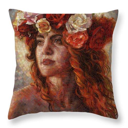 Glass Throw Pillow featuring the painting Glory by Mia Tavonatti