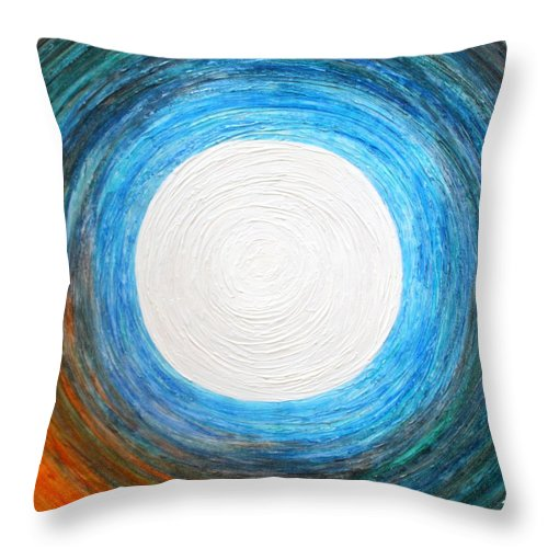 Moon Throw Pillow featuring the painting Glory Of The Moon At Dawn by Kiruba Sekaran