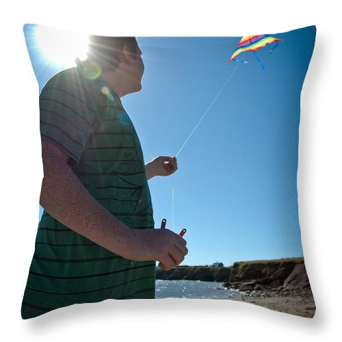 Summer Vacation Throw Pillow featuring the photograph Go Fly A Kite by Cheryl Baxter