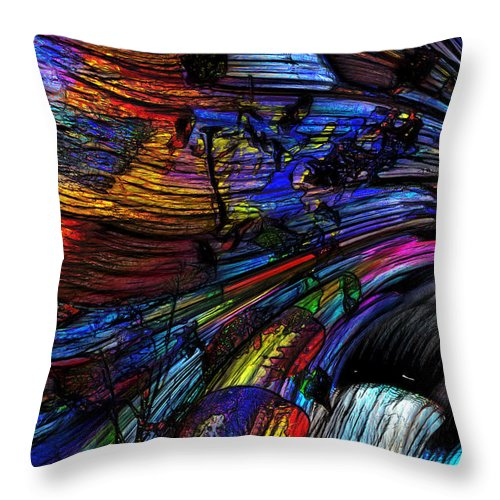 Abstract Throw Pillow featuring the photograph Go With The Flow by Richard Thomas