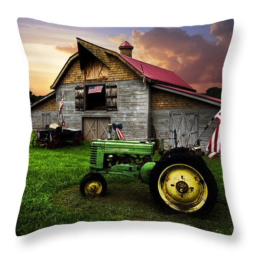 American Throw Pillow featuring the photograph God Bless America by Debra and Dave Vanderlaan