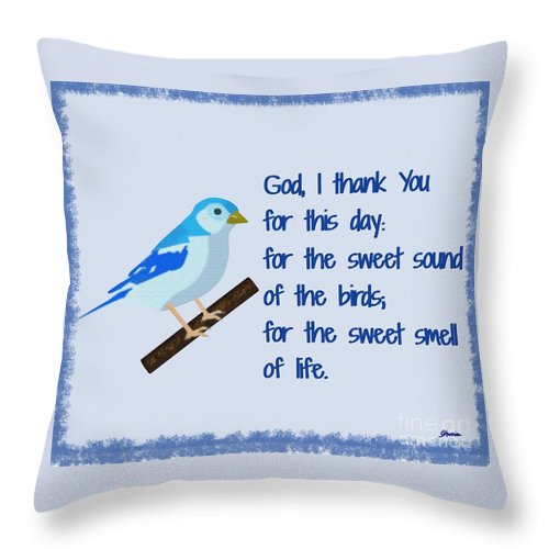 God I Thank You For This Day Throw Pillow featuring the painting God I Thank You for This Day by Pharris Art