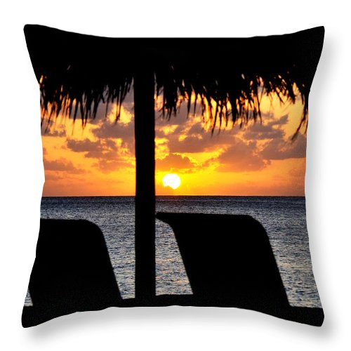 Sunsets Throw Pillow featuring the photograph God's Gift by Caroline Stella
