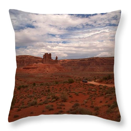 Garden Of The Gods Throw Pillow featuring the photograph Gods In The Distance by Adam Jewell