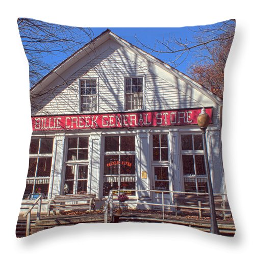 Parke Co Indiana Photographs Throw Pillow featuring the photograph Going To The Store by Thomas Sellberg