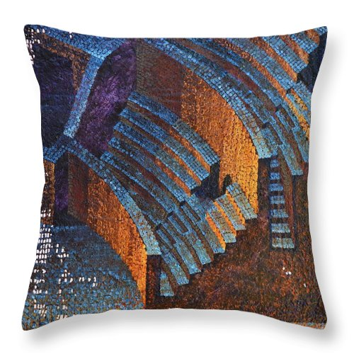 Roman Throw Pillow featuring the painting Gold Auditorium by Mark Jones