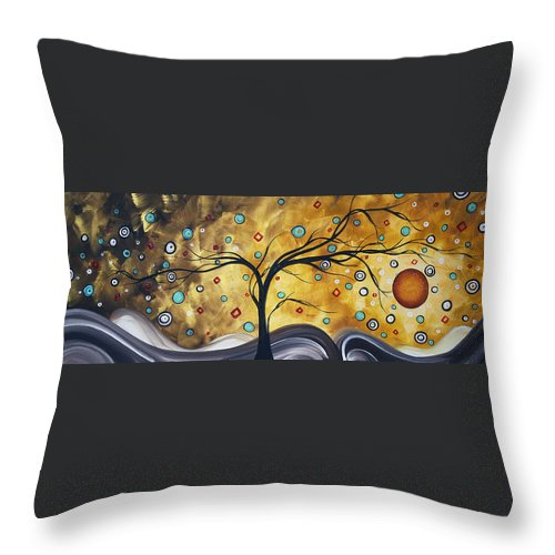 Wall Throw Pillow featuring the painting Golden Admiration By Madart by Megan Duncanson