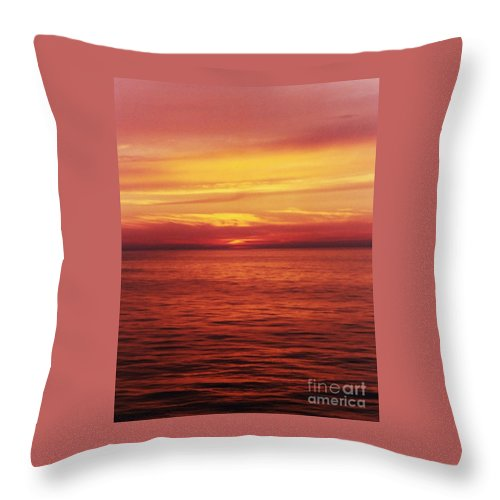 Sunset Photography Bermuda Photography Nature Photography Stock Shot Photography Ocean Photography Serene Photography Surreal Photography Serene Photography Meditation Photography Inspirational Photograph Metal Frame Canvas Print Poster Print Available On T Shirts Tote Bags Throw Pillows Shower Curtains Duvet Covers And Phone Cases Throw Pillow featuring the photograph Golden Bermuda by Marcus Dagan