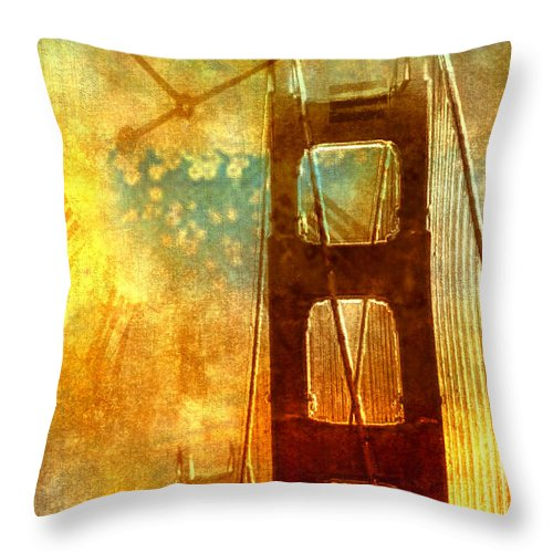 California Throw Pillow featuring the photograph Golden Gate Celebration by Barbara D Richards