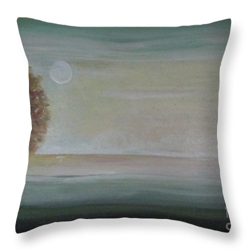Tree Throw Pillow featuring the painting Golden by Jacqui Hawk