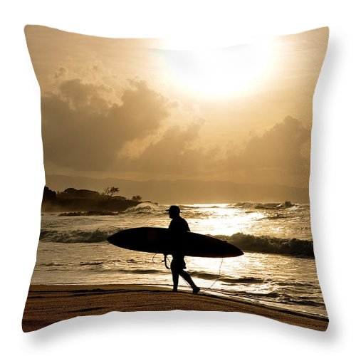 Hawaii Throw Pillow featuring the photograph Golden by Keith Harkin