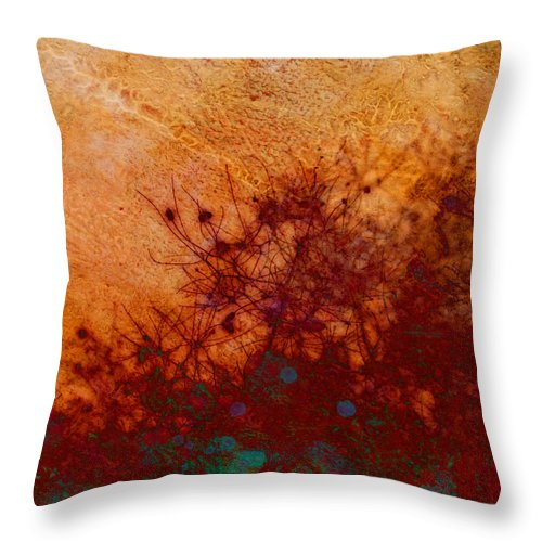 Nature Throw Pillow featuring the photograph Golden Light - Nature Art by Ann Powell