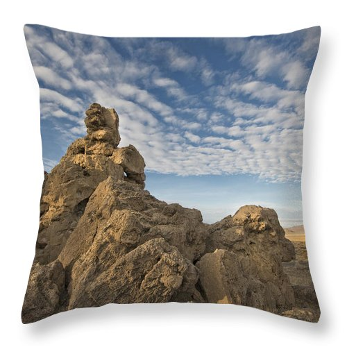 Rocks Throw Pillow featuring the photograph Golden Moment by Dianne Phelps