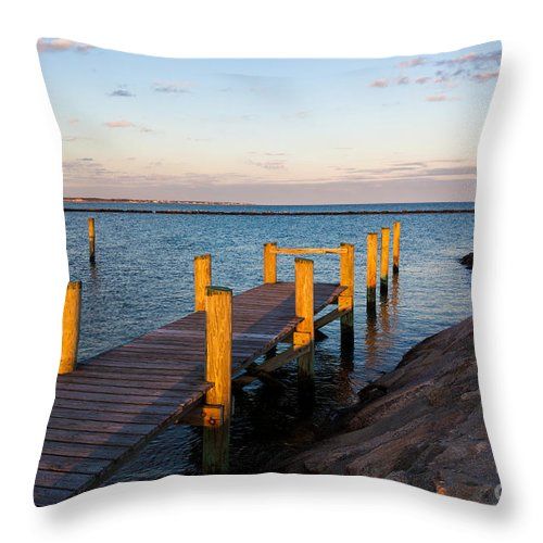 Golden Sound Throw Pillow featuring the photograph Golden Sound by Michelle Constantine